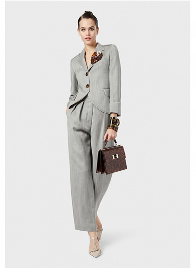 Grey high-end womens suit
