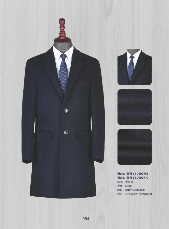 50 wool navy blue coat