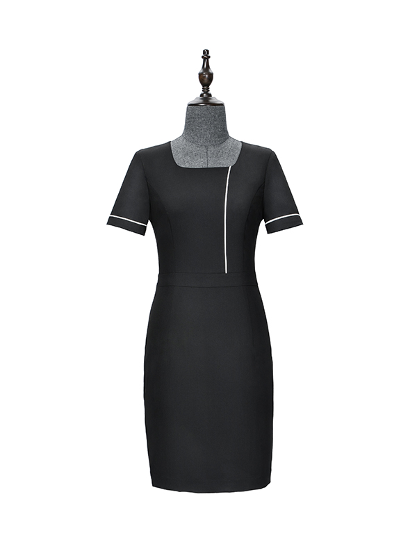 Black individual hem dress