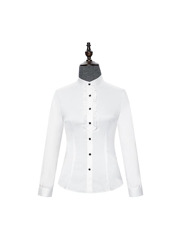 Long sleeve shirt with white fungus edge