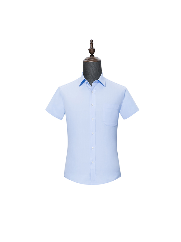 Blue mens Short Sleeve Shirt