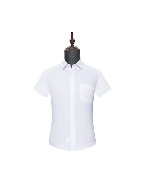White mens Short Sleeve Shirt