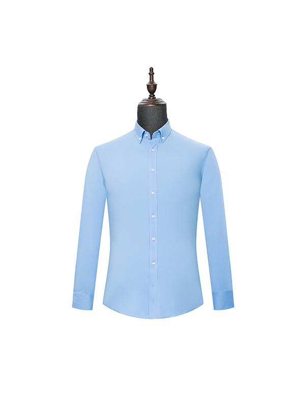 Blue mens long sleeve shirt