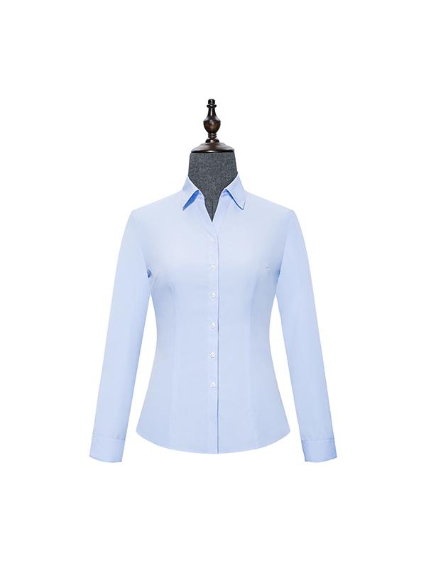 Blue V-Neck womens shirt