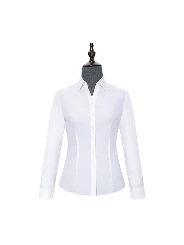 White V-Neck womens shirt