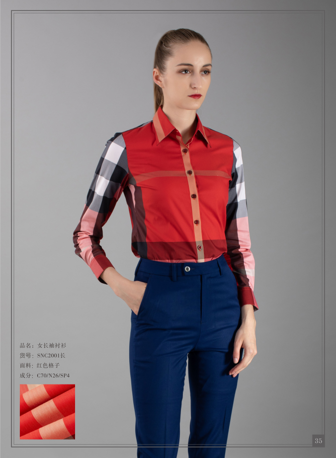 Red plaid womens shirt