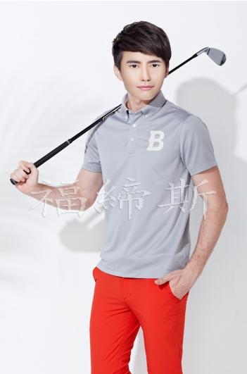 专业定制高尔夫T恤 服装 男女款 短袖可带logo