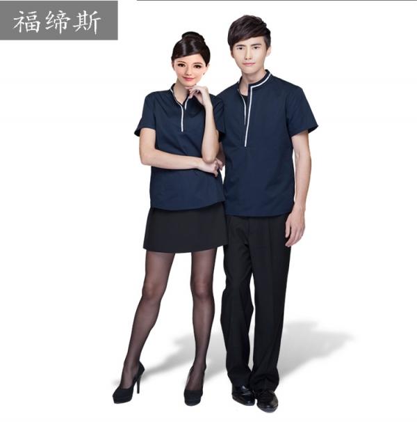 服务员 短袖夏装男女餐饮火锅店西餐厅 酒店工作服