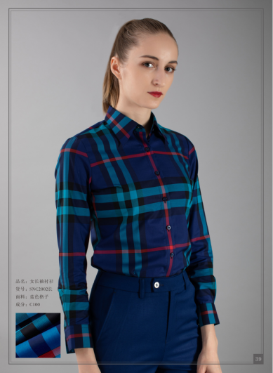 Blue Plaid womens shirt