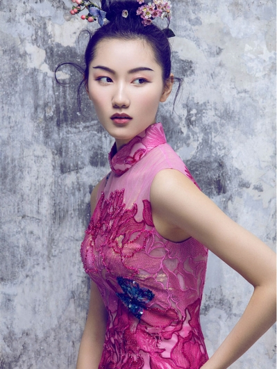 Rose red cheongsam